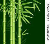 realistic 3d detailed bamboo... | Shutterstock .eps vector #1125729929
