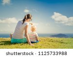 family and parenting time.... | Shutterstock . vector #1125733988