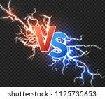 versus concept with collision... | Shutterstock .eps vector #1125735653