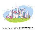 futuristic city line style... | Shutterstock .eps vector #1125737120