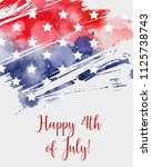 usa independence day background....   Shutterstock . vector #1125738743
