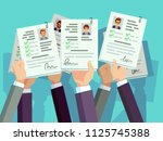 job competition. candidates... | Shutterstock .eps vector #1125745388