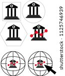 6 icons for bank concepts  ... | Shutterstock .eps vector #1125746939