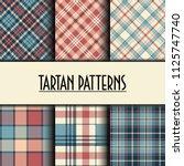 set of seamless tartan patterns   Shutterstock .eps vector #1125747740