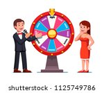 smiling game show host man... | Shutterstock .eps vector #1125749786