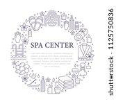 spa center banner illustration... | Shutterstock .eps vector #1125750836