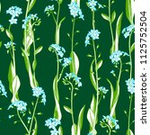 forget me nots boundless... | Shutterstock .eps vector #1125752504