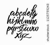 hand drawn alphabet. hand drawn ... | Shutterstock .eps vector #1125755243