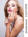 natural health beauty of a... | Shutterstock . vector #112575599