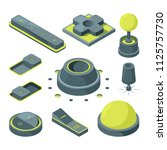 ui 3d buttons. isometric...