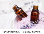 lavender body care products.... | Shutterstock . vector #1125758996