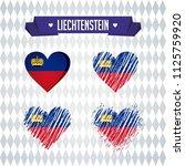 liechtenstein with love. design ... | Shutterstock .eps vector #1125759920