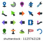 colored vector icon set  ... | Shutterstock .eps vector #1125762128