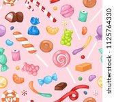 cartoon sweet bonbon sweetmeats ... | Shutterstock .eps vector #1125764330