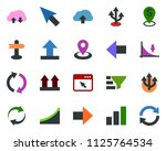 colored vector icon set   down... | Shutterstock .eps vector #1125764534