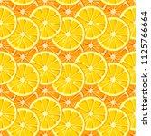 lemon and orange slices... | Shutterstock .eps vector #1125766664