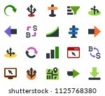 colored vector icon set  ... | Shutterstock .eps vector #1125768380