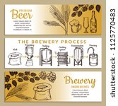 banners set of brewery.... | Shutterstock .eps vector #1125770483