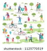 outdoor activism in urban park. ... | Shutterstock .eps vector #1125770519