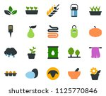 colored vector icon set   spike ... | Shutterstock .eps vector #1125770846