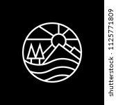 outdoor nature  icon logo... | Shutterstock .eps vector #1125771809