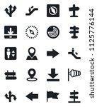set of vector isolated black... | Shutterstock .eps vector #1125776144