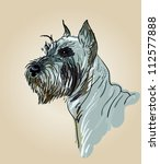 Drawing Head Of A Dog Breed...