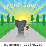 friendship  sunrise  road to... | Shutterstock .eps vector #1125781280