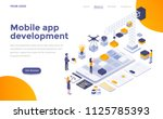 modern flat design isometric... | Shutterstock .eps vector #1125785393