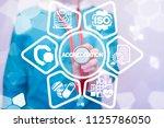 accreditation medicine concept. ... | Shutterstock . vector #1125786050