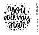 vector poster with phrase and... | Shutterstock .eps vector #1125789476