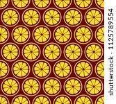 lemon slices seamless pattern....   Shutterstock .eps vector #1125789554