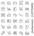 thin line vector icon set  ...   Shutterstock .eps vector #1125790850