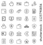 thin line vector icon set  ... | Shutterstock .eps vector #1125790856