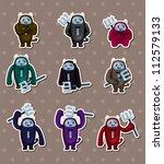 cartoon halloween devil stickers | Shutterstock .eps vector #112579133