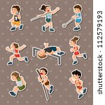 sport stickers | Shutterstock .eps vector #112579193