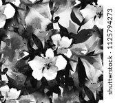 watercolour floral seamless... | Shutterstock . vector #1125794273