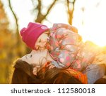 little girl and her mother in...   Shutterstock . vector #112580018