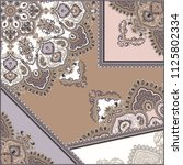 classic paisley scarf   Shutterstock .eps vector #1125802334