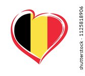 love belgium emblem with heart... | Shutterstock .eps vector #1125818906