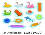 summer time beach sea vacation... | Shutterstock .eps vector #1125819170