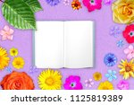 Beautiful Flower Frame With...