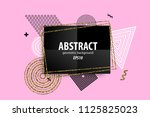 holiday golden shine abstract... | Shutterstock .eps vector #1125825023