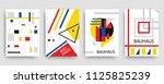retro geometric bauhaus ... | Shutterstock .eps vector #1125825239