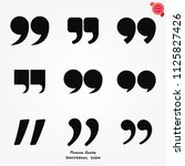 quote sign icon. quotation mark ... | Shutterstock .eps vector #1125827426