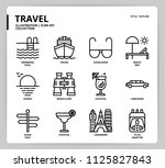 travel icon set | Shutterstock .eps vector #1125827843