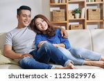 handsome asian man and pretty...   Shutterstock . vector #1125829976
