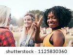 friends having fun together... | Shutterstock . vector #1125830360