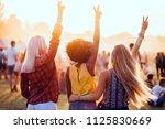 multiethnic girls covered in... | Shutterstock . vector #1125830669