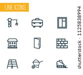 construction icons line style... | Shutterstock .eps vector #1125838994